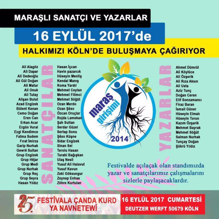 Kürt Kültür Festivali 16 Eylül'de Köln'de