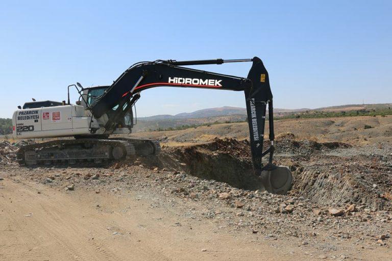 Pazarcık'ta saha çalışması başladı