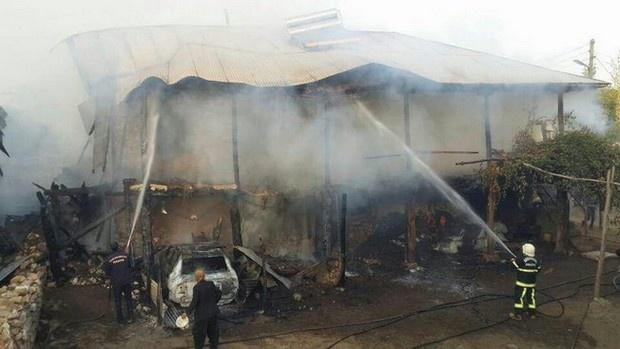 Maraş'ta yangın ev kullanılamaz halde!