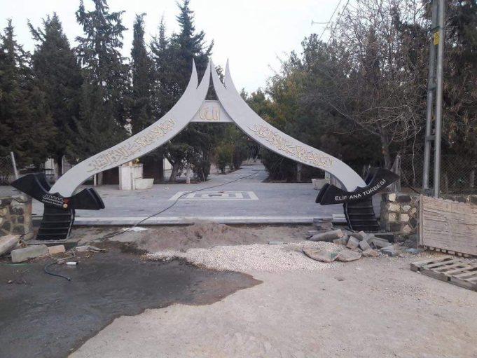Pazarcık'ta bulunan Elif Ana türbesi yenilendi