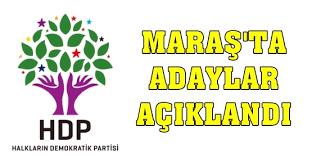 HDP Maraş Milletvekilleri listesi açıklandı.