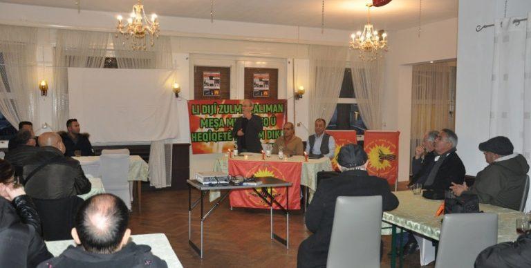 Bielefeld'te Maraş, Roboskî ve 19 Aralık anması