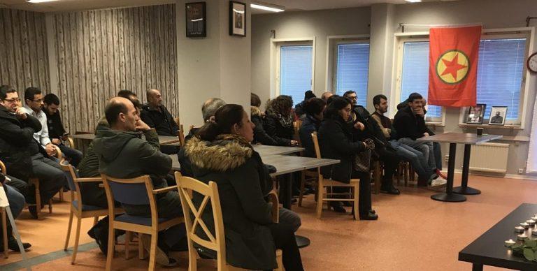 Örebro'de Maraş ve Roboski anması