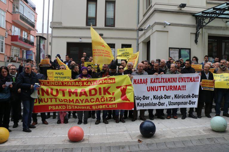 PSAKD İstanbul Şubeleri, Maraş katliamını lanetledi