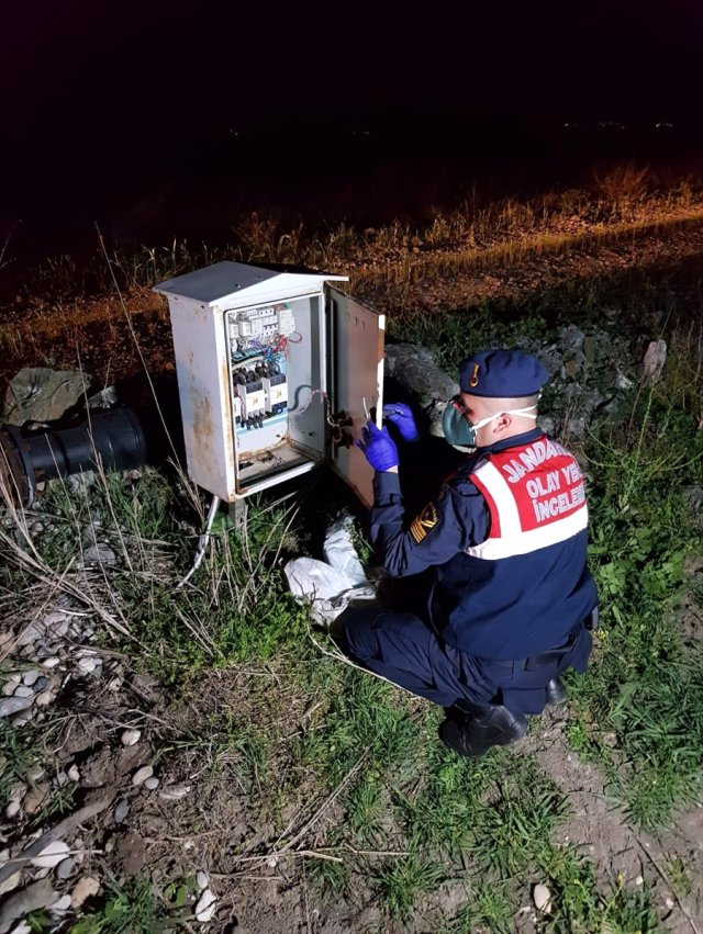 Türkoğlu 'nda Kablo Hırsızlığı