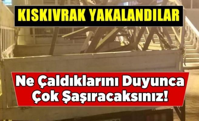 Kahramanmaraş'ta elektrik direğini çalan hırsızlar yakalandı