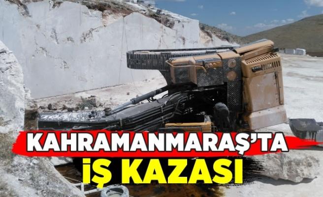 Kahramanmaraş'ta iş makinesi devrildi; 1 kişi yaralandı