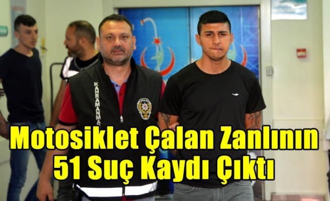 Kahramanmaraş'ta motosikleti gasbeden 18 yaşındaki şüphelinin 51 suç kaydı çıktı
