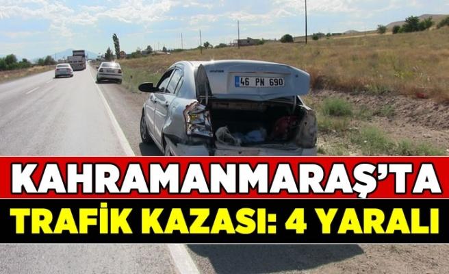 Kahramanmaraş'ta trafik kazası iki otomobil çarpıştı: 4 yaralı