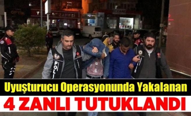 Kahramanmaraş'ta uyuşturucu operasyonunda gözaltına alınan 4 şüpheli tutuklandı