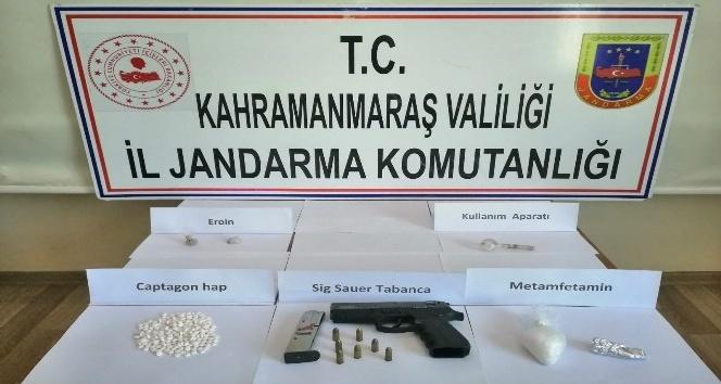 Pazarcık 'ta uyuşturucu operasyonunda 3 tutuklama