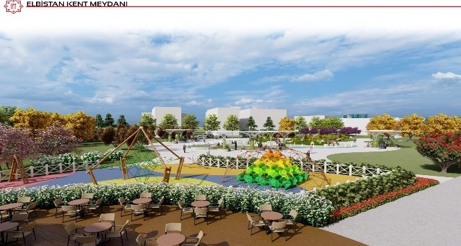 Elbistan'a 50 bin metrekarelik Kent Meydanı yapılıyor