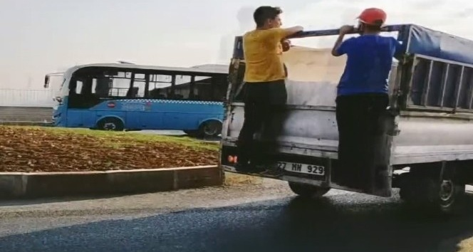 Araç dışında yolcu taşıyan sürücüye cezai işlem