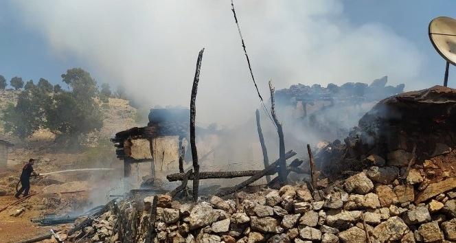 Türkoğlu 'da korkutan yangın