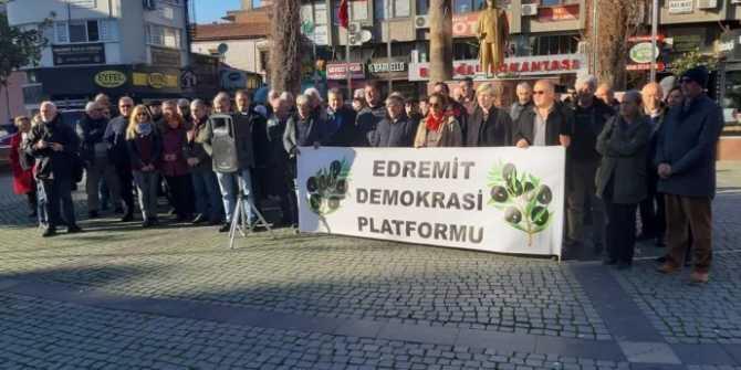 Edremit Demokrasi Platformu taleplerini açıkladı