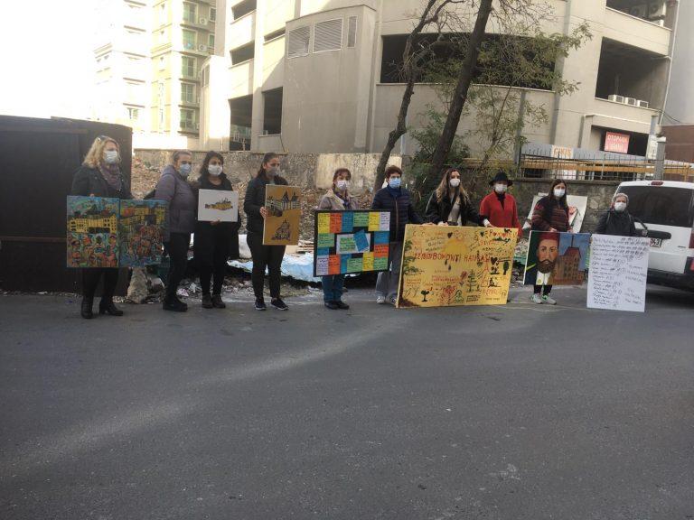 Bomonti'de mescit ve yurt yapımına protesto