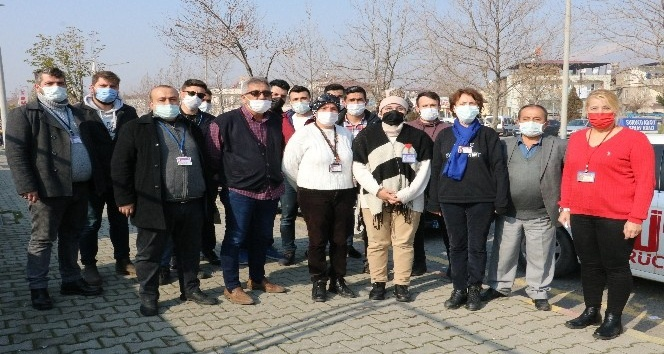 Kahramanmaraş'ta direksiyon eğitmenleri hak edilişlerini talep ediyor