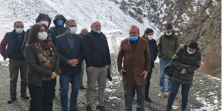 HDP'li vekillerden dağ keçileri için nöbet tutanlara ziyaret