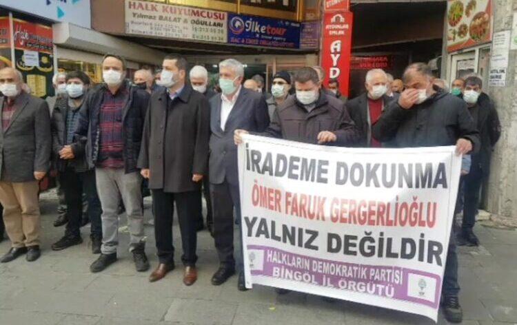 HDP Bingöl İl Örgütü: Ömer Faruk Gergerlioğlu yalnız değildir