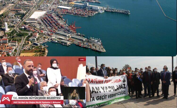 Mersin Limanı'nın genişletilmek istenmesine tepki